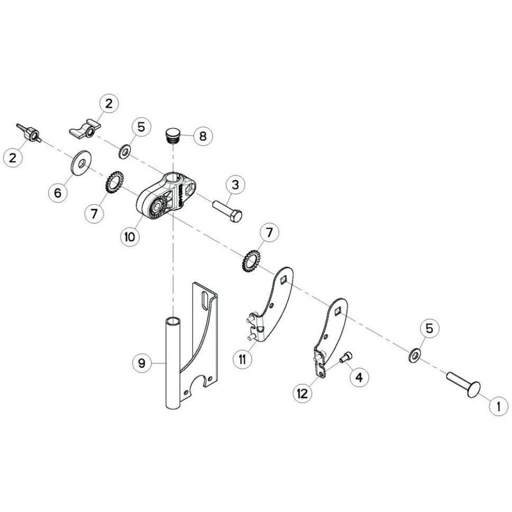 36 Steun, besturingsbox passend voor KUHN GF13012