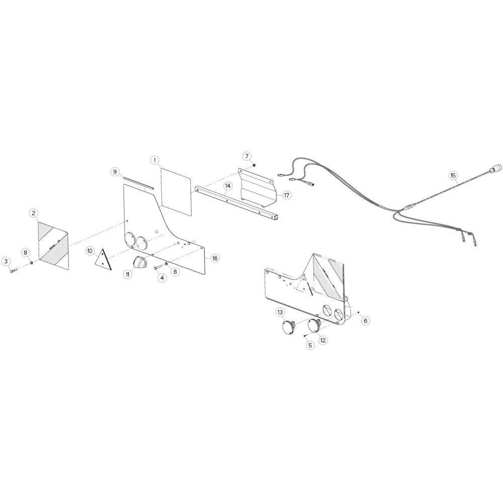 40 Verlichting CE passend voor KUHN GF13012
