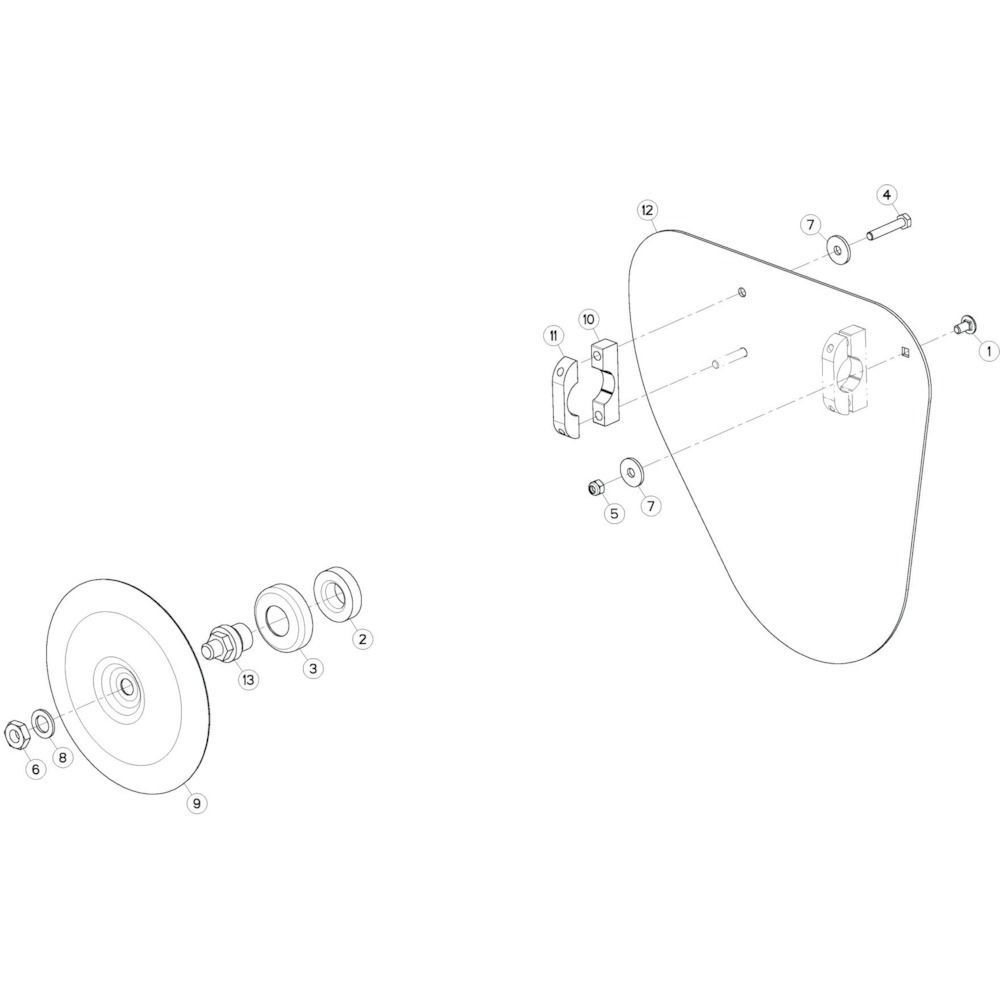 48 Deflectorset, NL passend voor KUHN GF13012