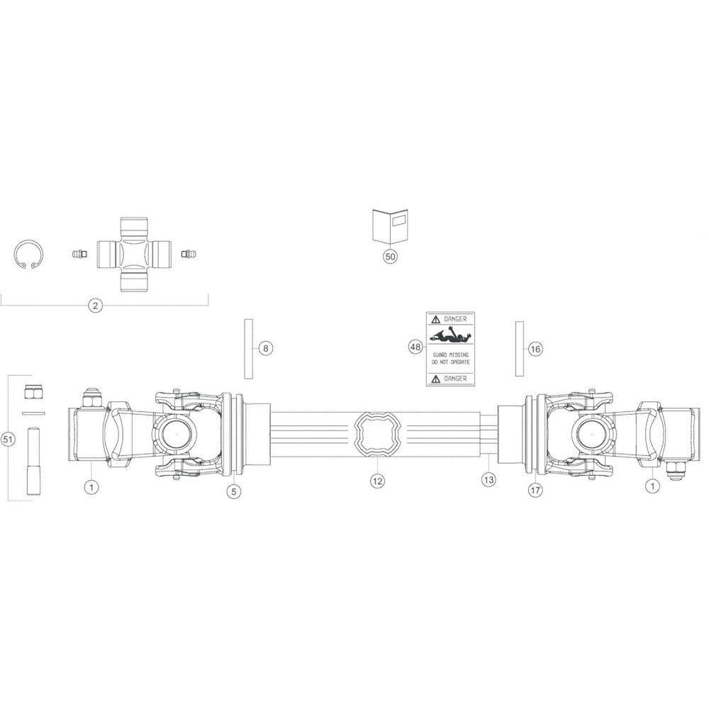 50 Transmissie 1 passend voor KUHN GF13012