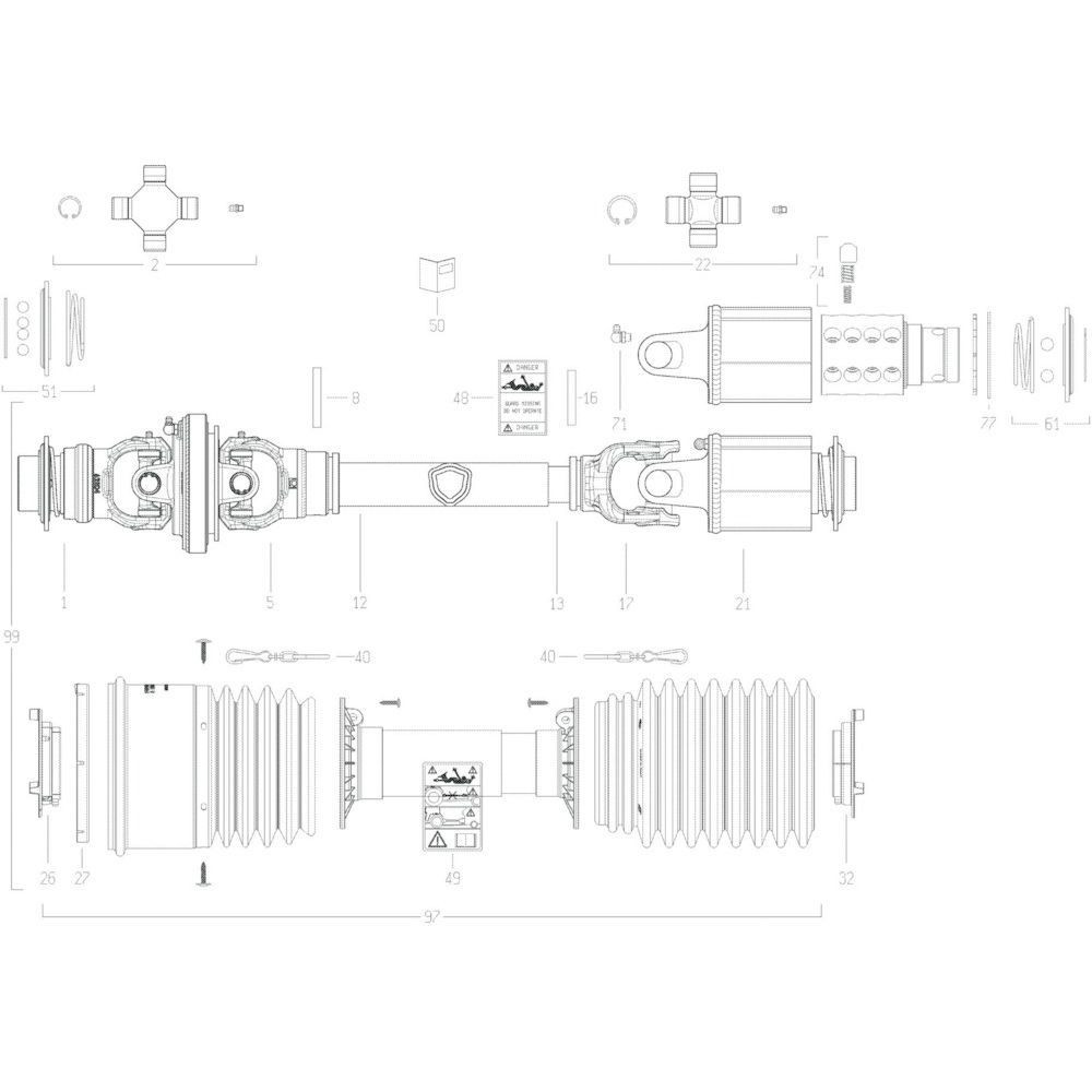 55 Transmissie 6 passend voor KUHN GF13012