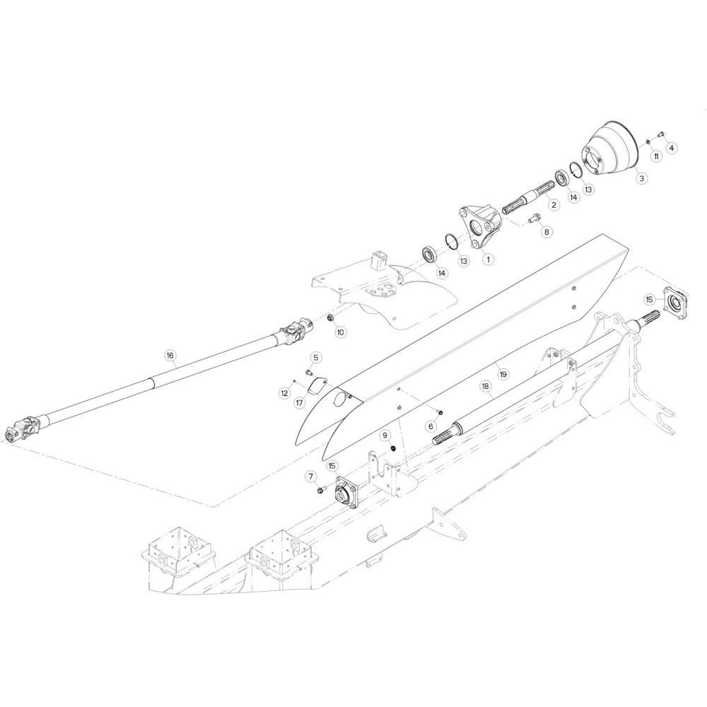02 Aandrijving, voorzijde passend voor KUHN GF17002