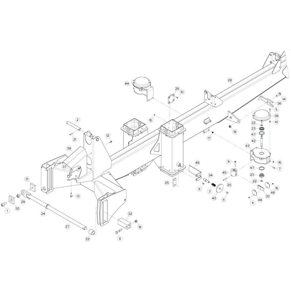 03 Verbindingsframe, achter passend voor KUHN GF17002