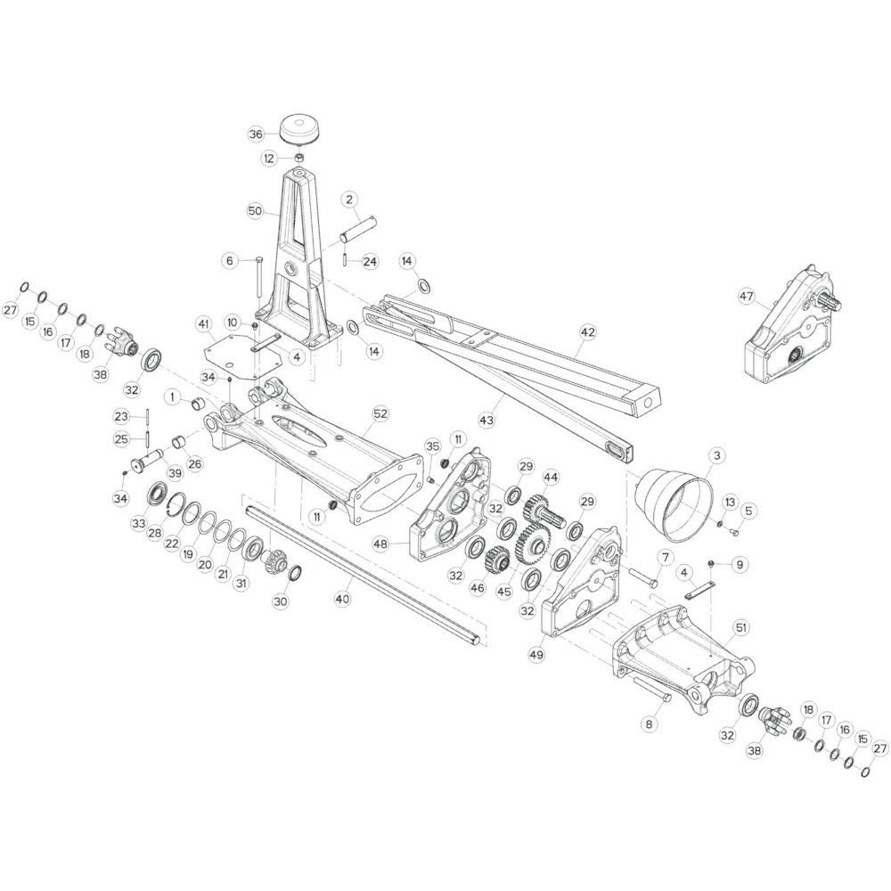 10 Tussenwing 1, links passend voor KUHN GF17002