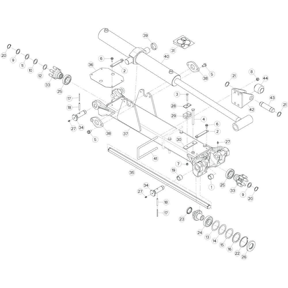 13 Tussenwing 3, rechts passend voor KUHN GF17002