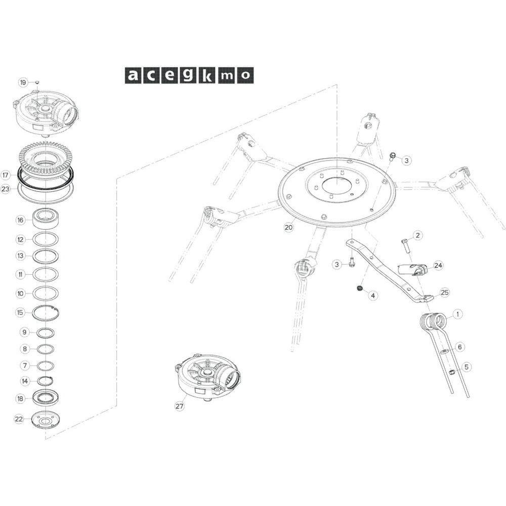 25 Rotor, rechts passend voor KUHN GF17002