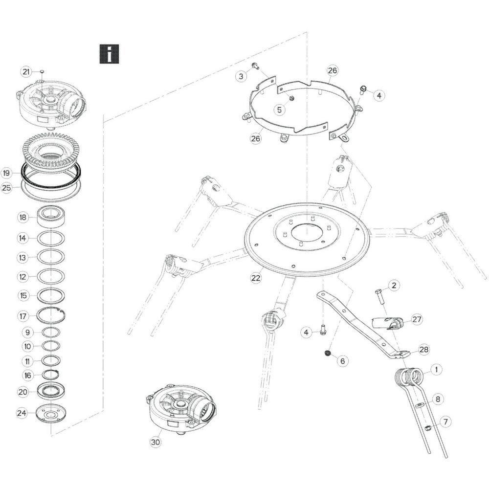27 Rotor passend voor KUHN GF17002