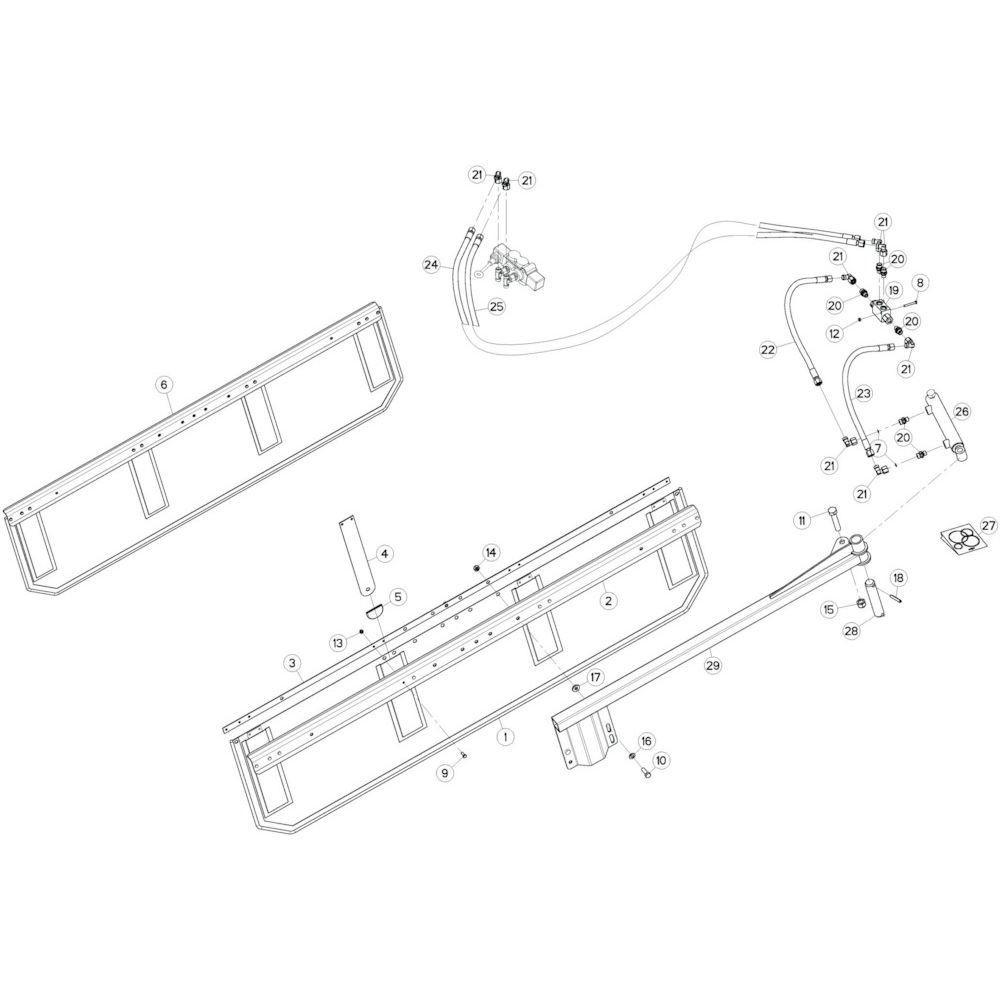 36 Deflectorset passend voor KUHN GF17002