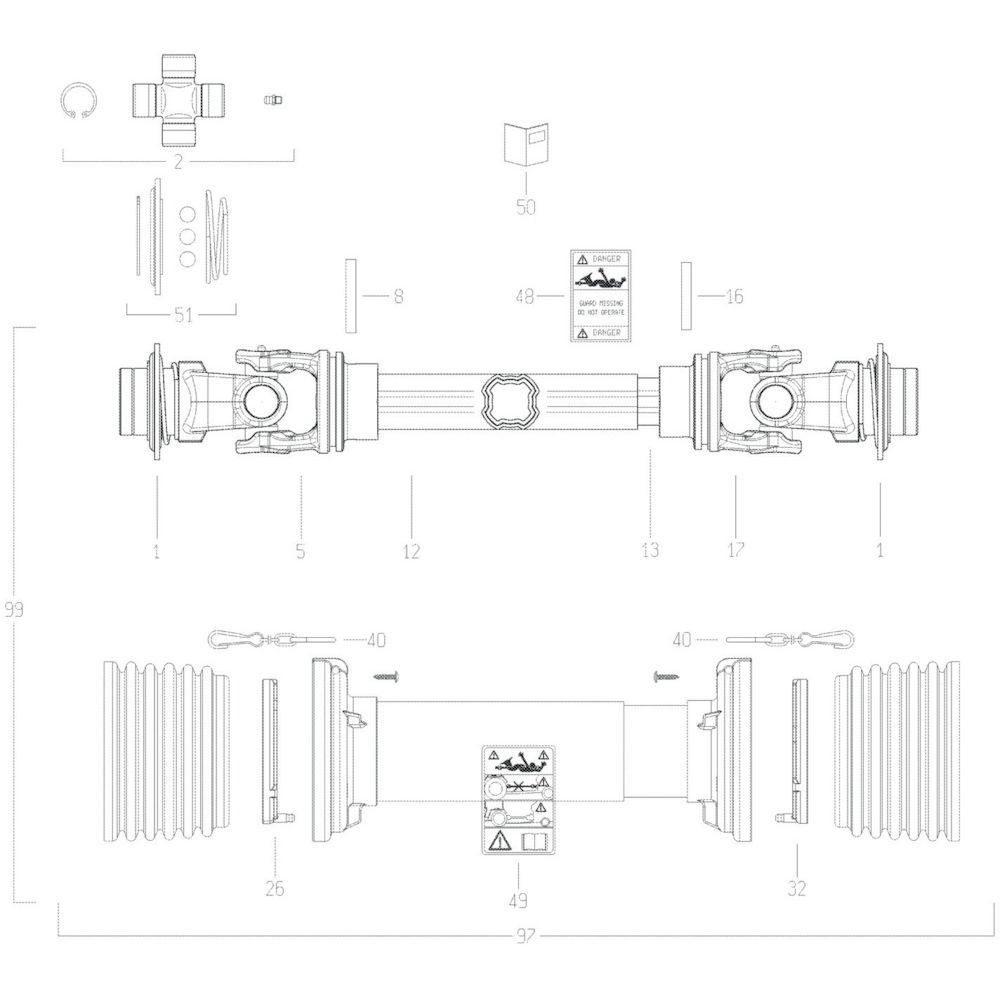 38 Transmissie 1 passend voor KUHN GF17002
