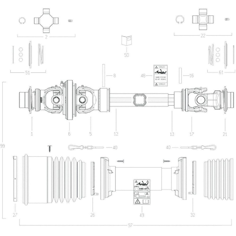 43 Transmissie 6 passend voor KUHN GF17002