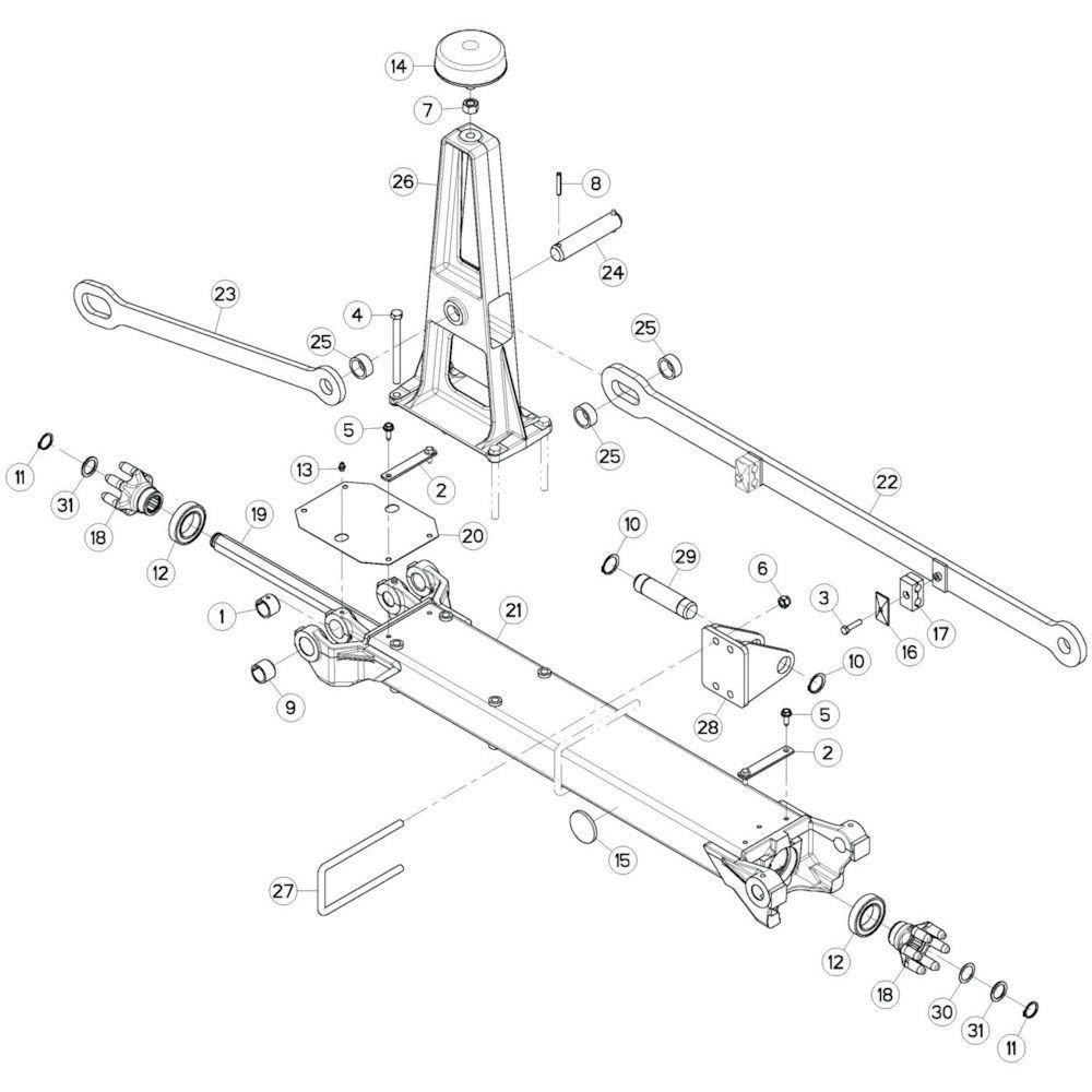 13 Tussenwing 2, links passend voor KUHN GF17002