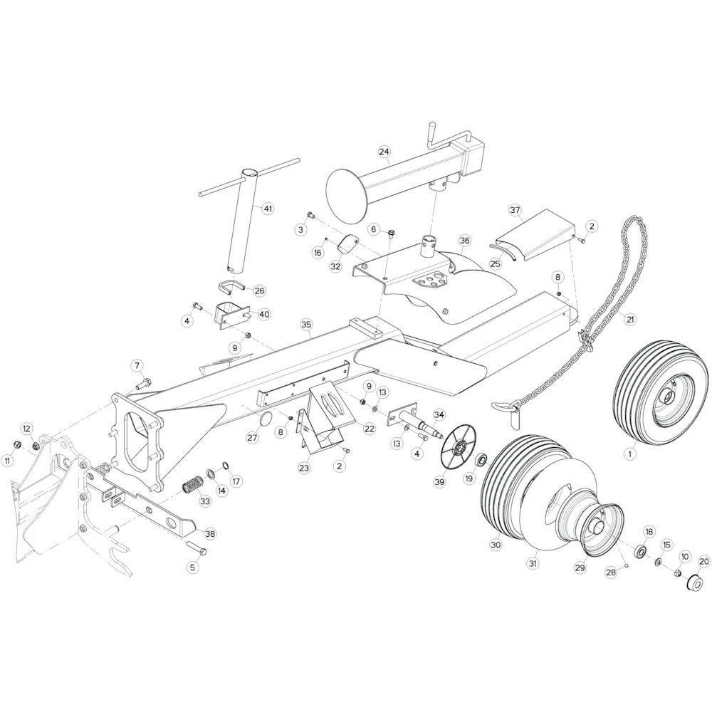 02 Verbindingsframe, voorzijde passend voor KUHN GF17002