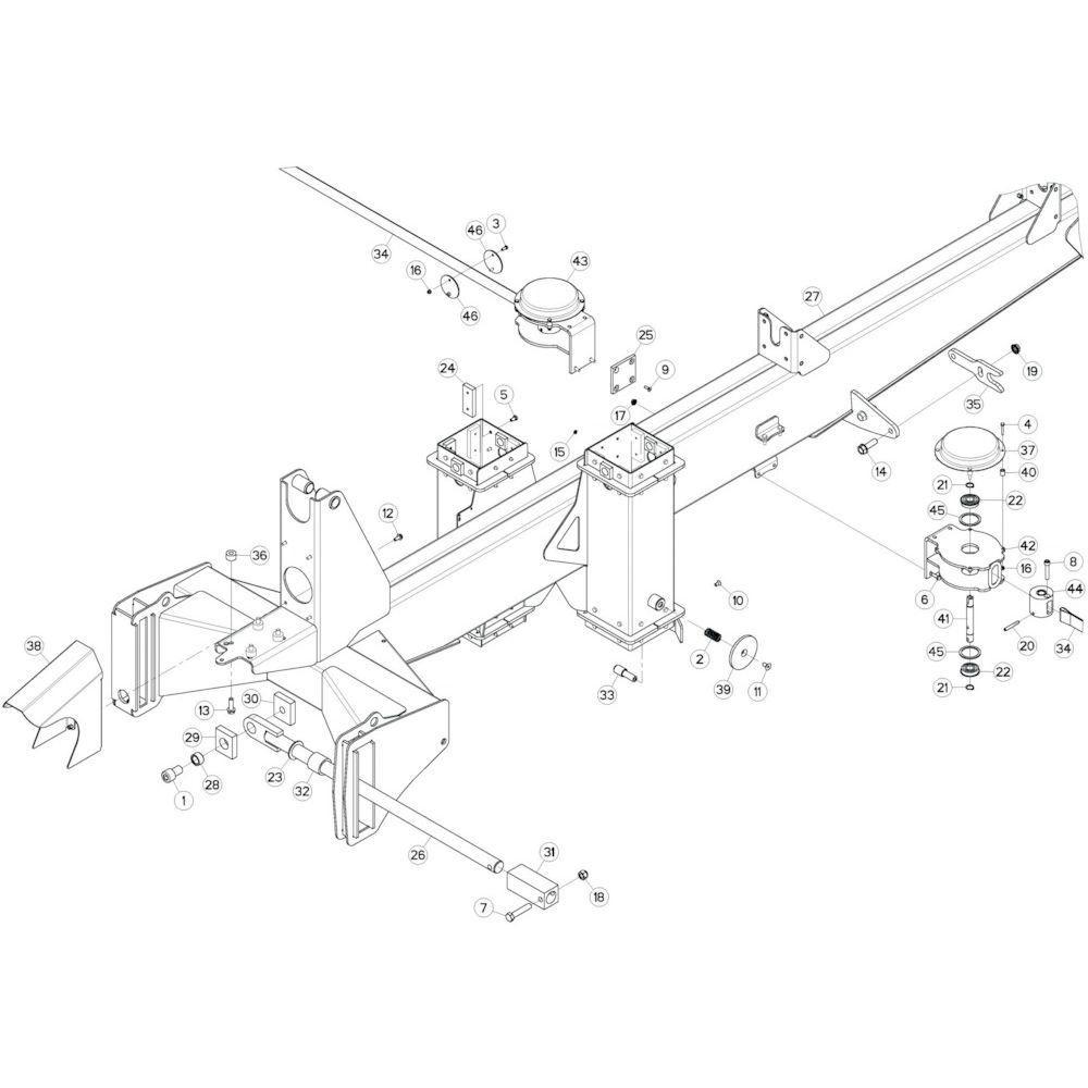 04 Verbindingsframe, achter 1 passend voor KUHN GF17002