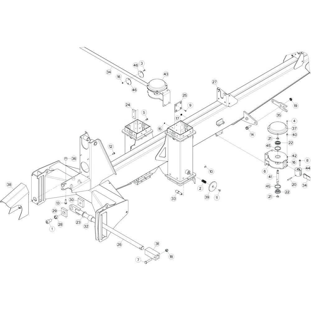 05 Verbindingsframe, achter 2 passend voor KUHN GF17002