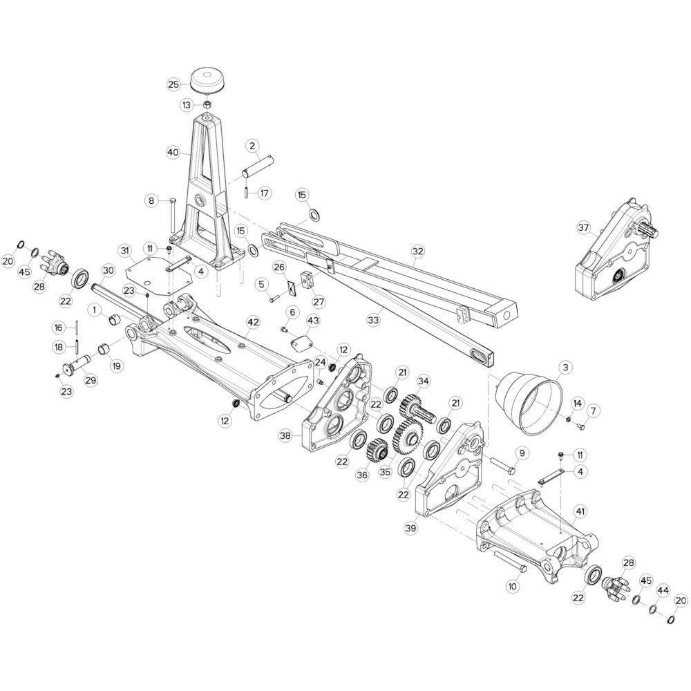 13 Tussenwing 1, links passend voor KUHN GF17002