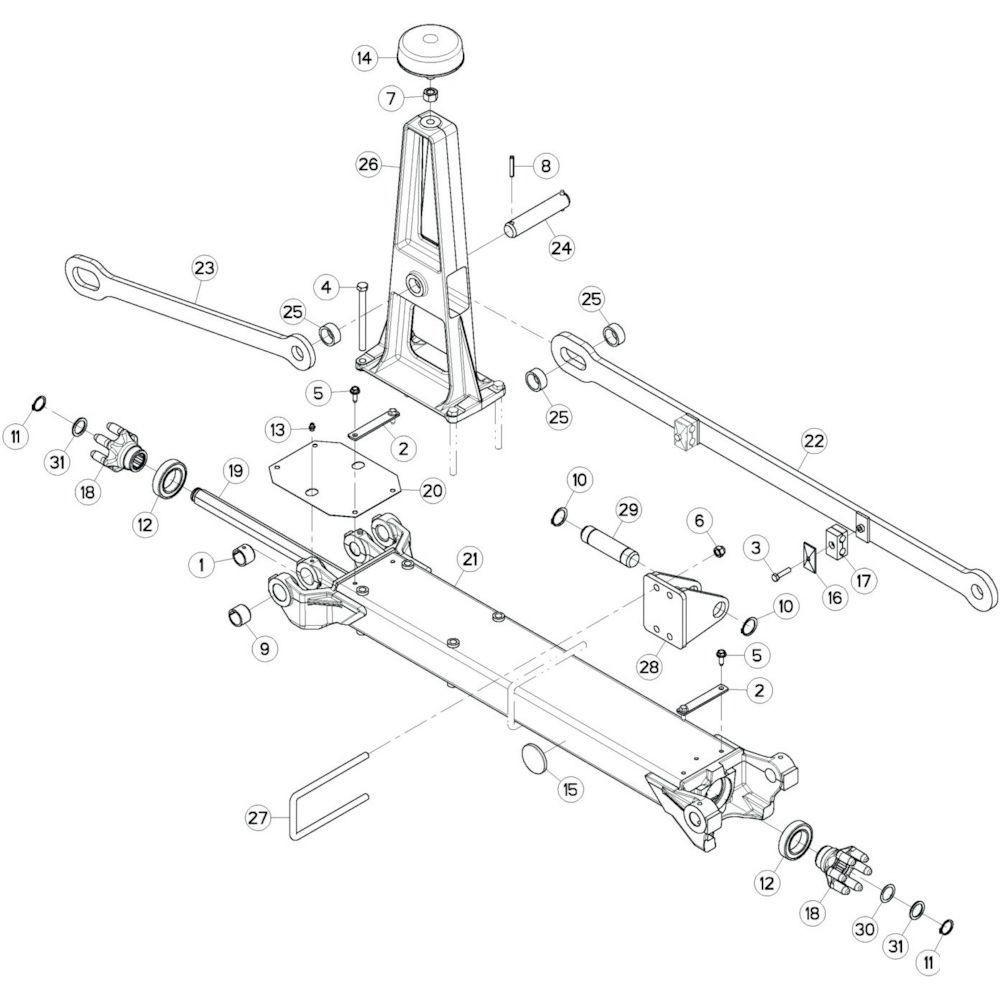 15 Tussenwing 2, links passend voor KUHN GF17002