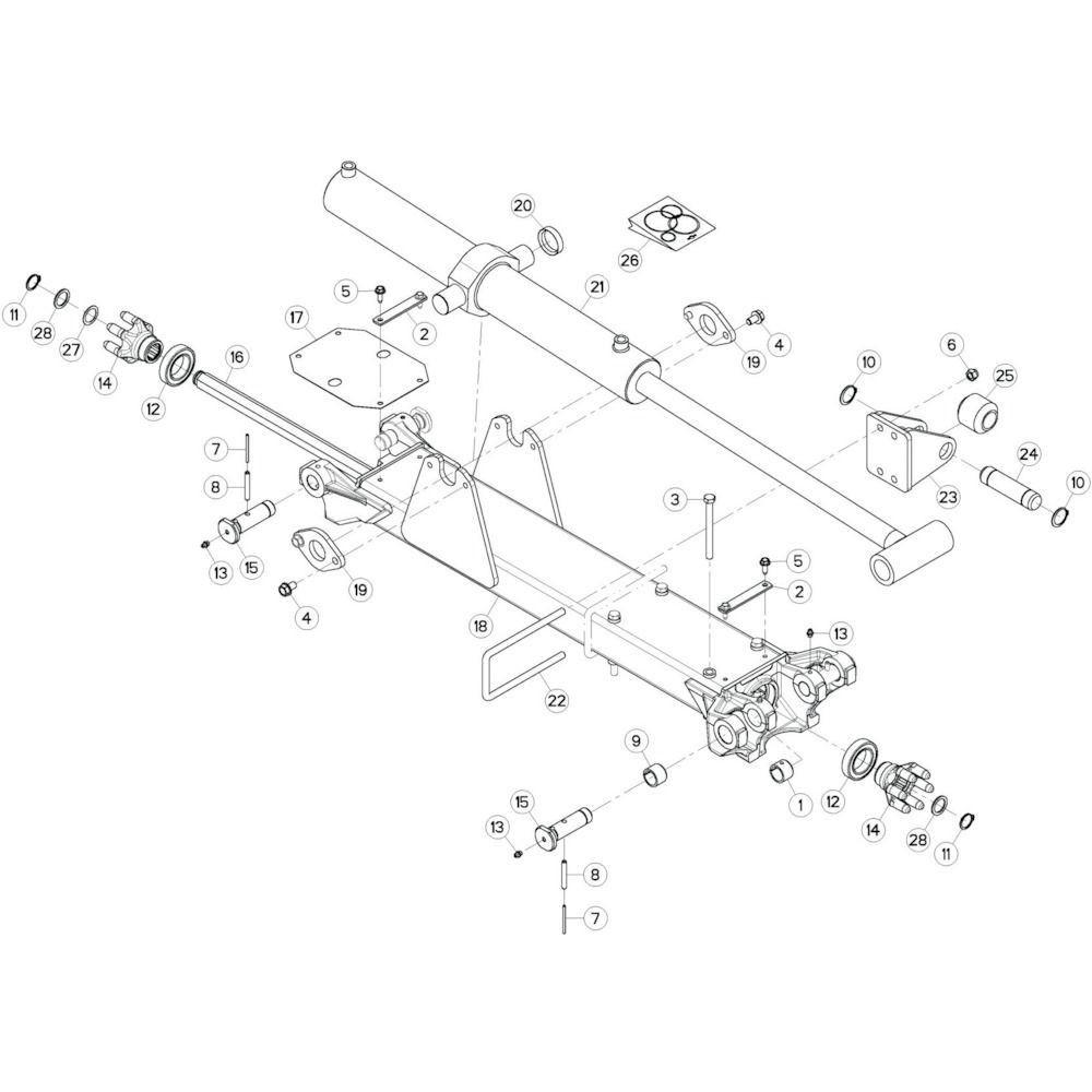 16 Tussenwing 3, rechts passend voor KUHN GF17002