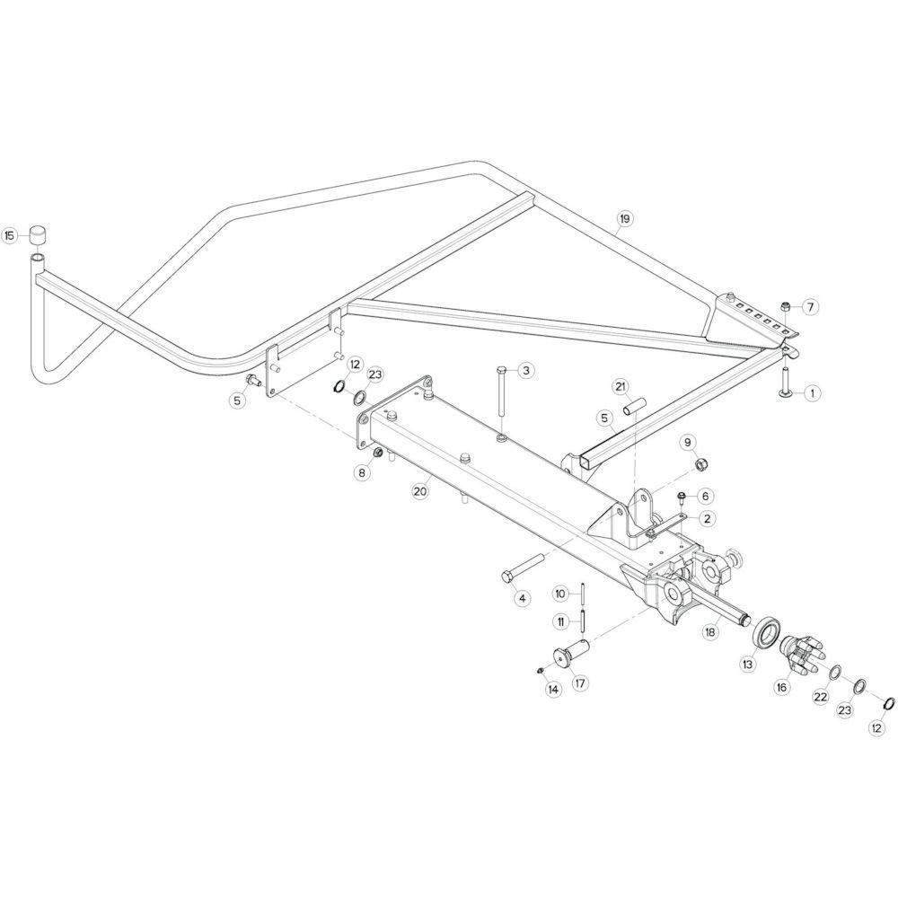 23 Buitenwing, links passend voor KUHN GF17002