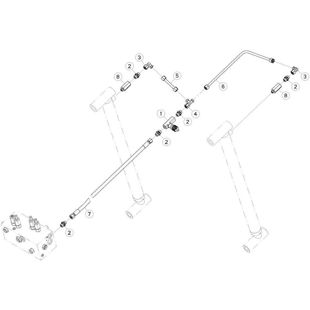 26 Hydrauliekslangen, tussendeel passend voor KUHN GF17002