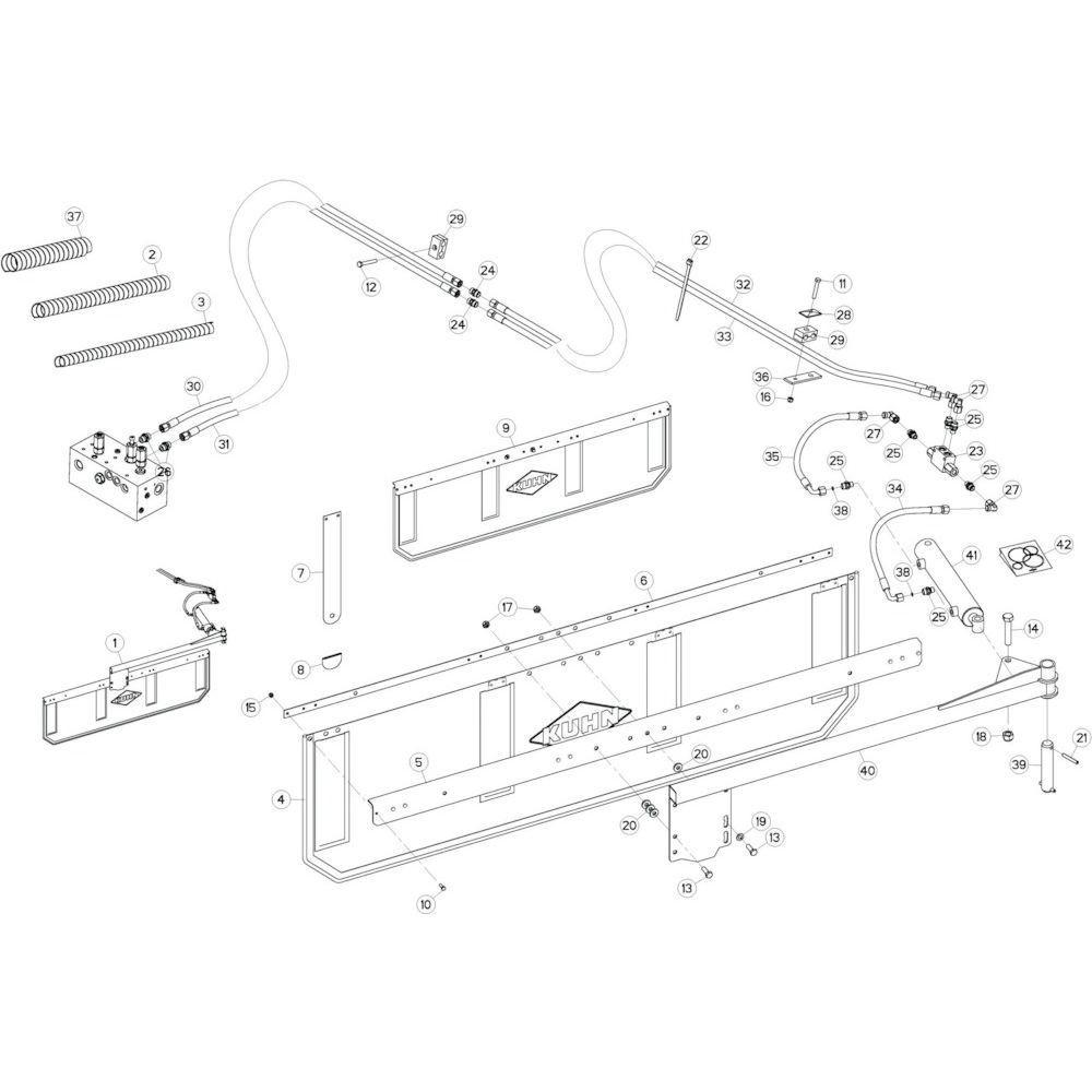 43 Deflectorset passend voor KUHN GF17002