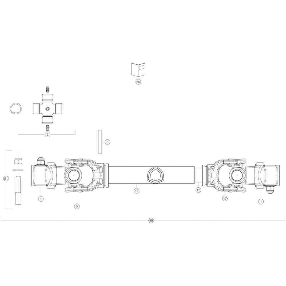 44 Transmissie passend voor KUHN GF17002