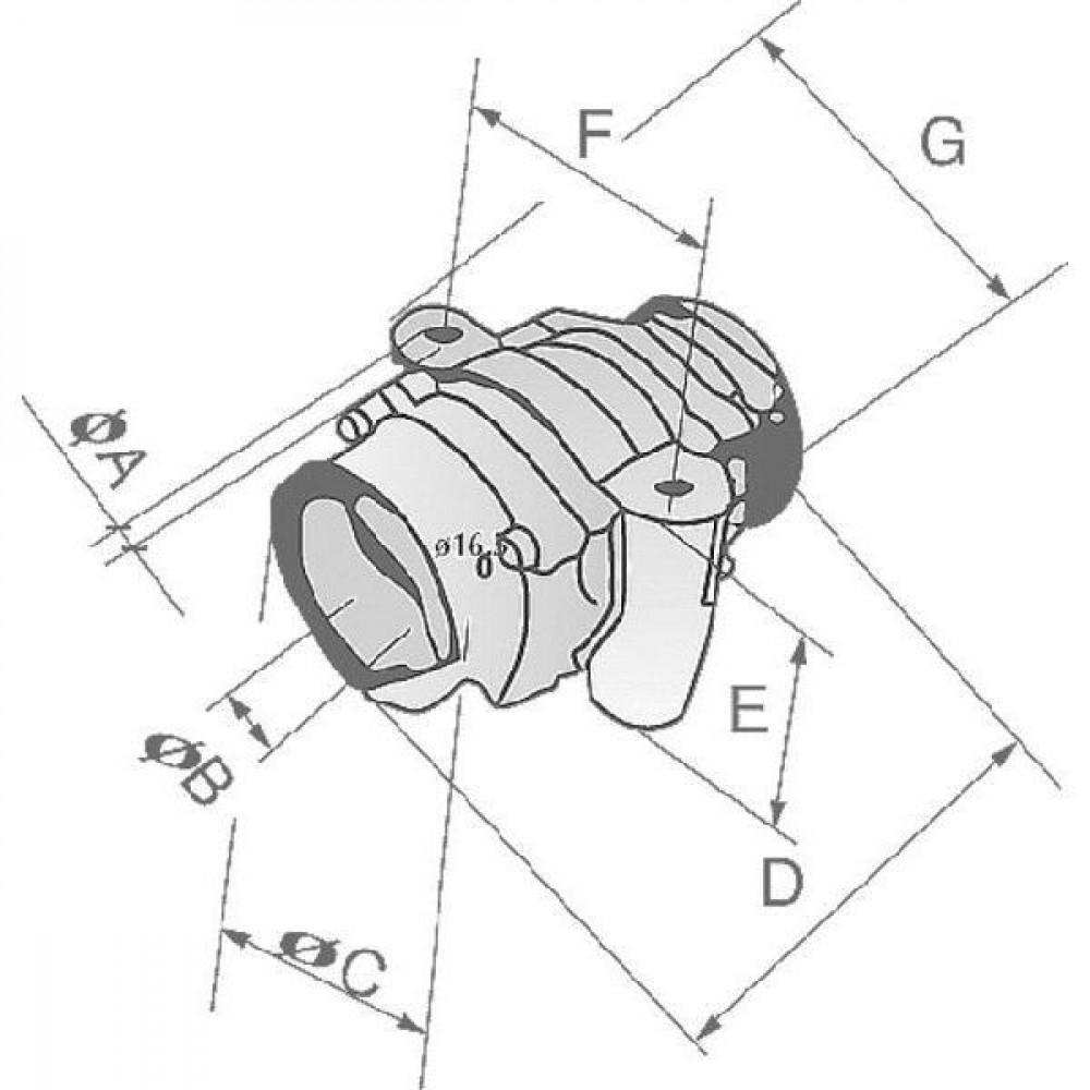 Lager v. kneus-/gewasrol vierkant 41 - HD486073 | 135 mm | 235 mm | 160 mm