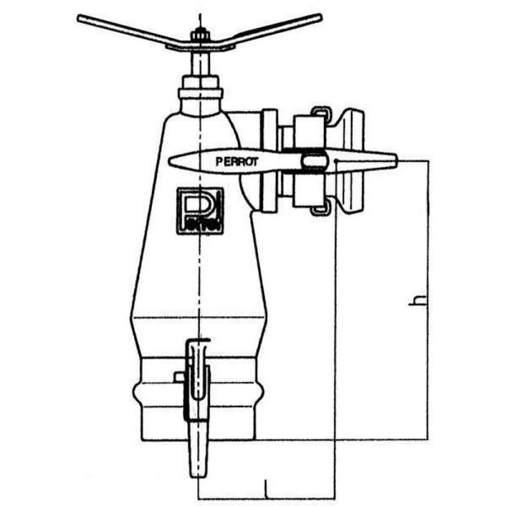 Perrot Bovenste deel brandkraan - HOKL89 | 222 mm | 159 mm