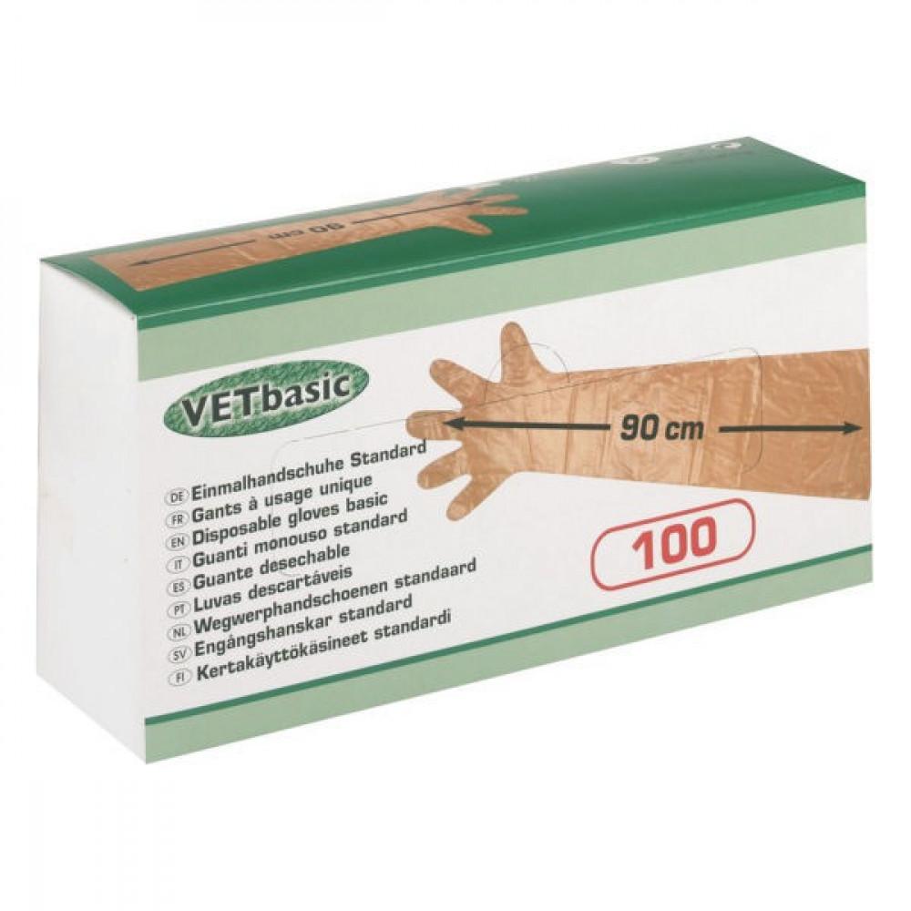 Wegwerphandsch. 90 cm (100st.) - HS15364 | Ideaal voor de veearts | 100 stuks in een doos | One size fits all