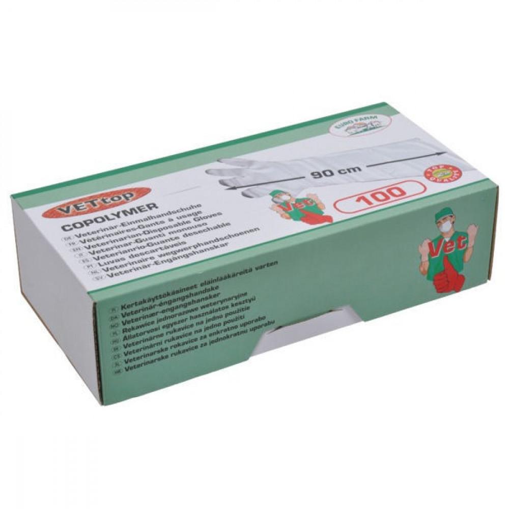 Wegwerphandsch. 90 cm 100st - HS1536T | Super sensibel | Bijzonder slijtvast | Ideaal voor de veearts | Taille unique