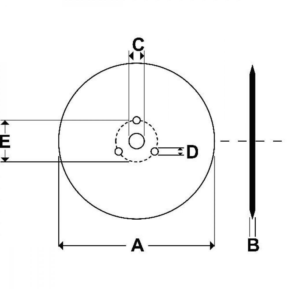 Schijf - JA978 | 410 mm | 51 mm | 10 mm
