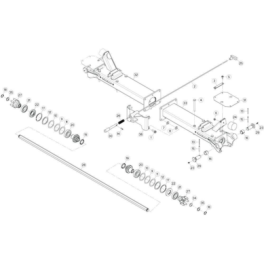 Kuhn Platte sluitring - K8809950 | Aant.2 | B 0681 > B 0724