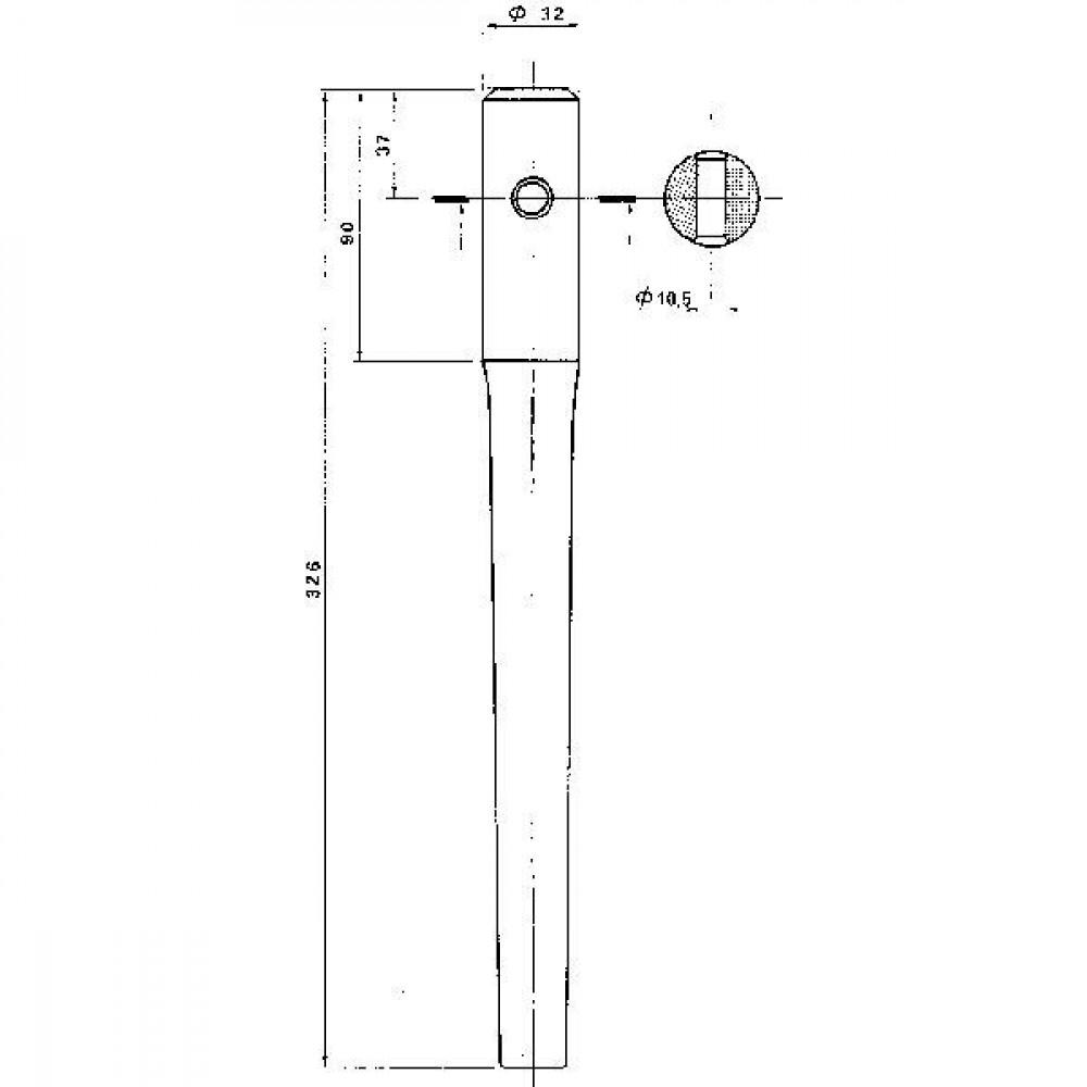Oplaspunt - KE0800 | 187 mm