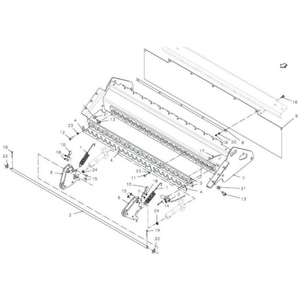 Kverneland Zeskantbout M8x25 8.8 - KG00472161 | M8x25mm, Aant.9 | 80060826