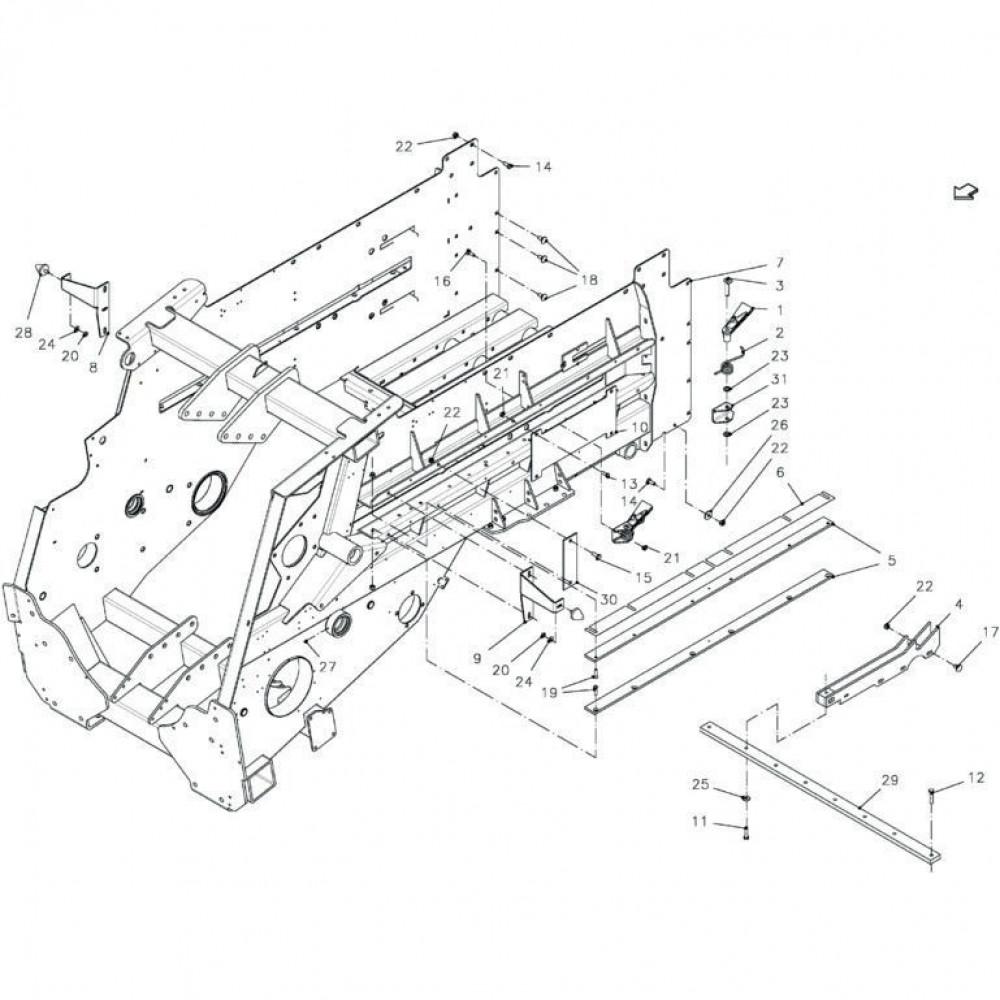 Kverneland Zeskantbout M12x35 - KG00476661 | M12x35mm, Aant.8 | 80061236