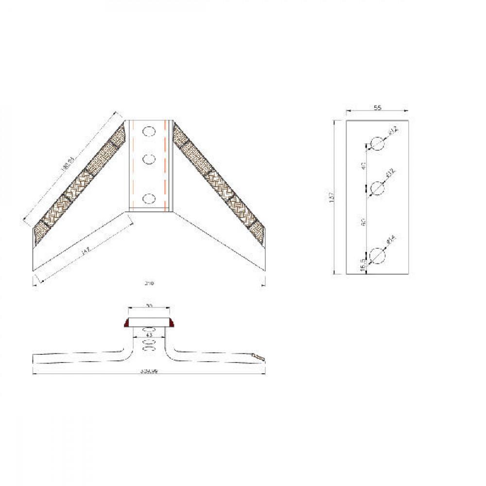 Vleugelschaar 310 mm v. CLC - KK301123RCN | 190 mm | 310 mm | 40 / 60 mm