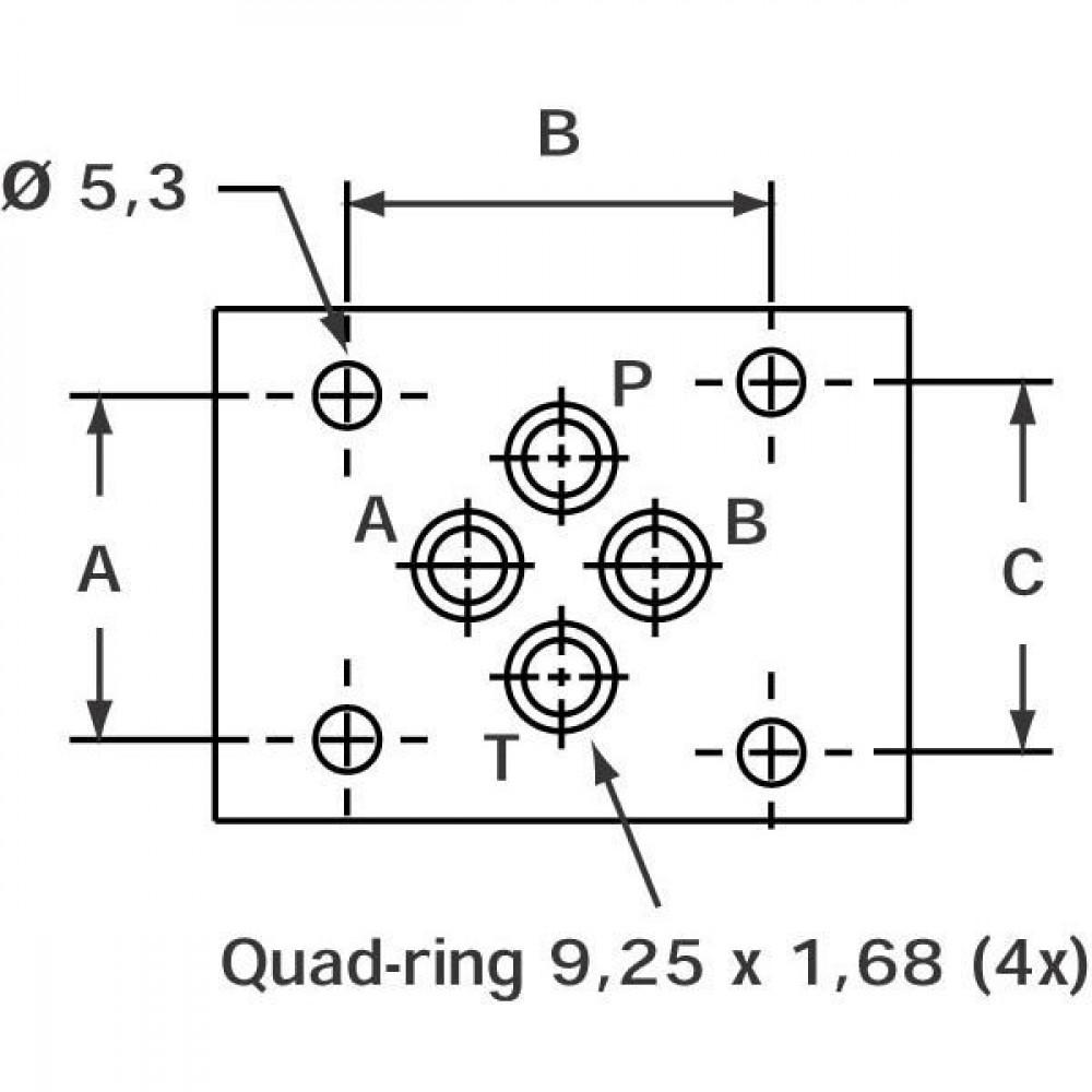 Stuurventiel elektrisch NG6 - KREV03SC6024C   Elektromagnetisch bediend   Max. 60 l/min   24V DC V