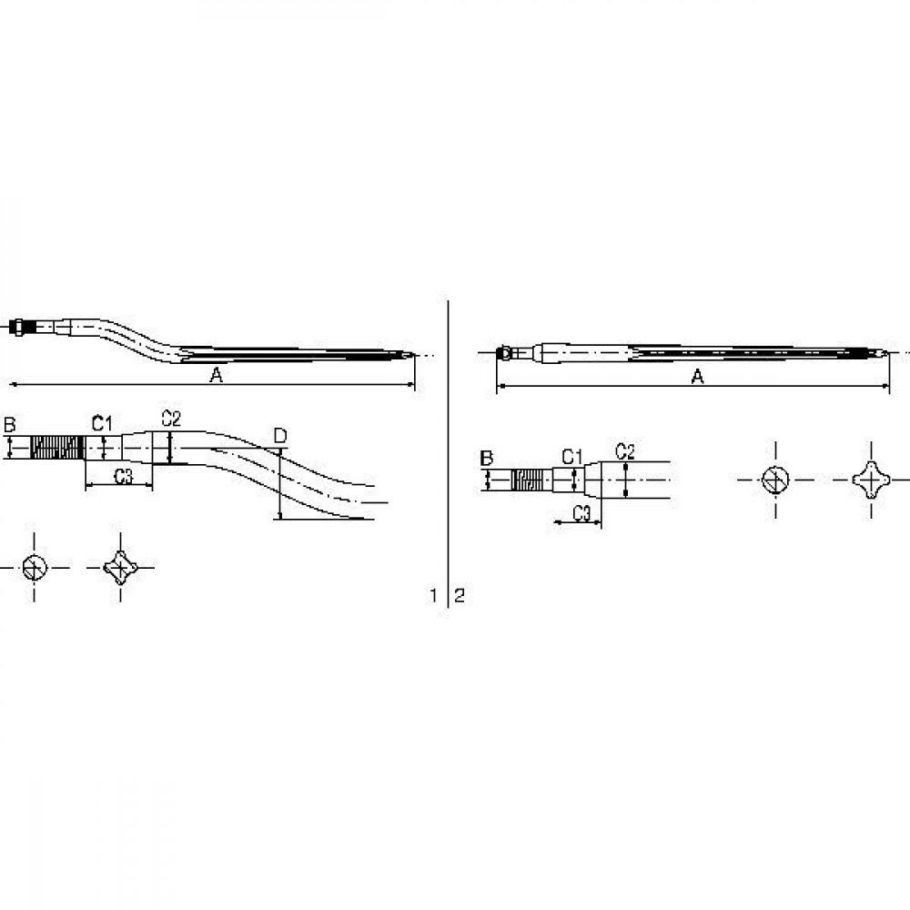 SHW Kuilvoertand M22x950mm Van der Heide - KT13 | 950 mm | M22 x 1,5 | 22 mm | 100 mm