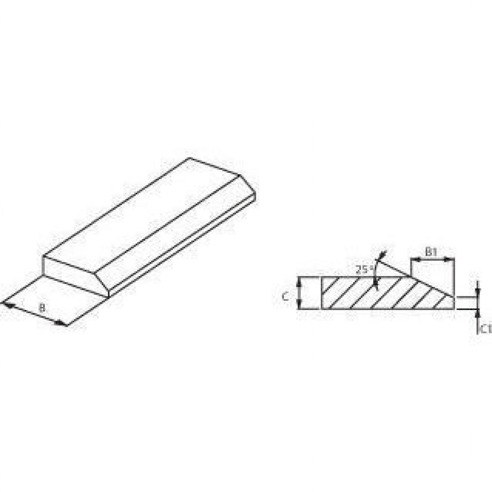 Messenstaal 150x16x 2500 - KT150162500 | Lange levensduur | 150 mm | 2500 mm | 18 kg/m