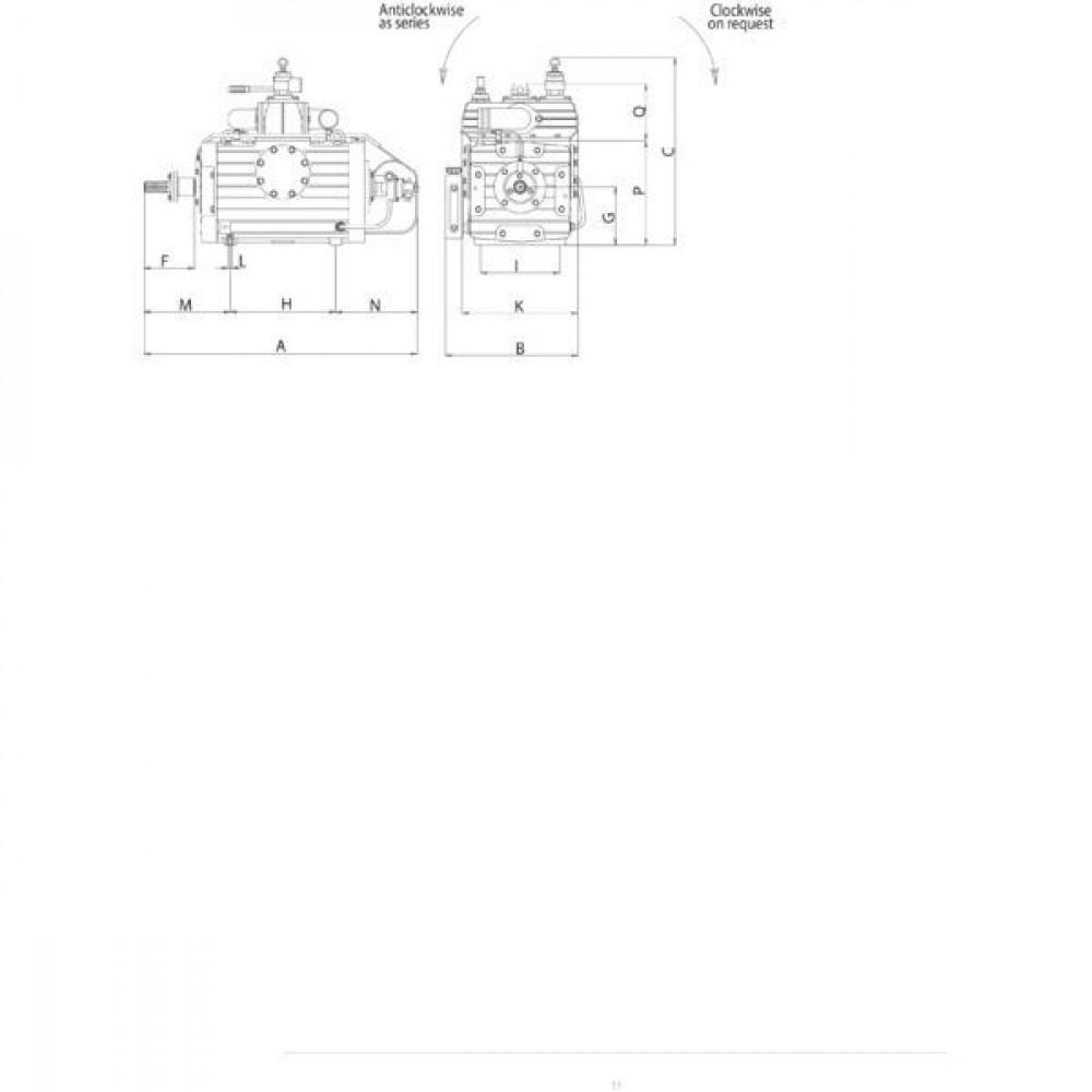 Battioni Pagani Compressor Watergekoeld B.P. - KTS1080CDFRLA | Hoge slijtvastheid | 2.5 bar | -0,95 bar | 18000 l/min | 505 mm | 711 mm | 220 mm | 540 mm | 330 mm | 303 mm | 396 mm | 216 mm | 47 kW max. druk | 41 kW max. vacuum | 1173 mm