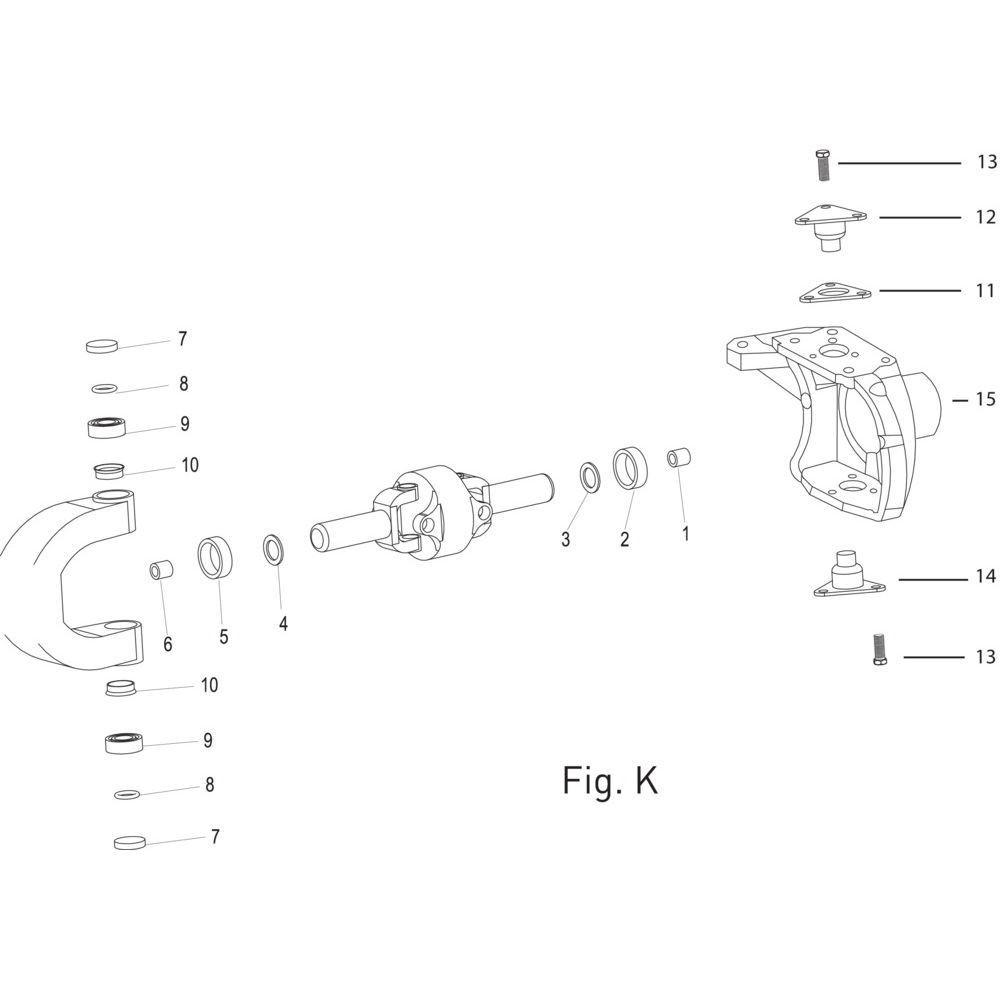 Massey Ferguson Lager - 005103812 | Type 770-624 | Fig.K 9