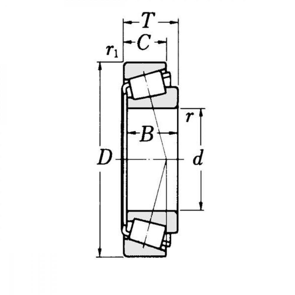 Kegellager - LM603049603011N | 15,08 mm