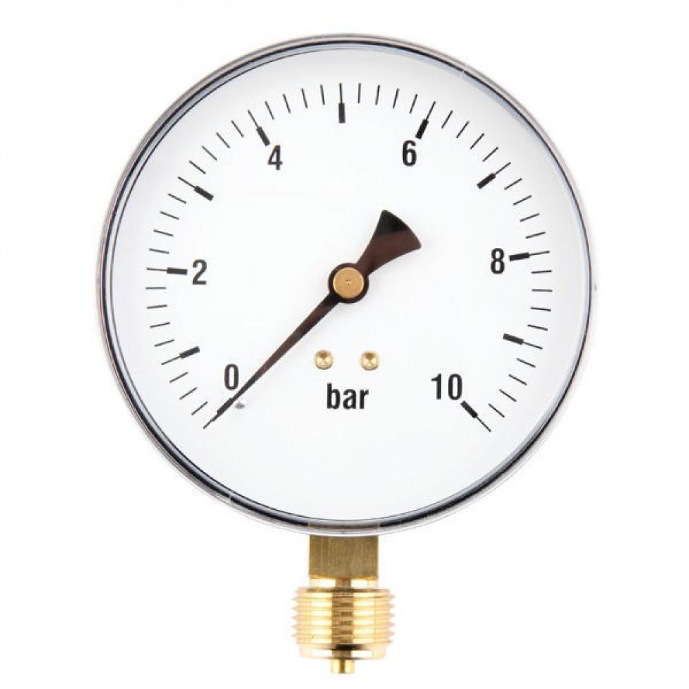 "Gasli Manometer Ø100 0-10bar ½"" oa - MA10010L08ST | 0 -10 bar | 100 mm"