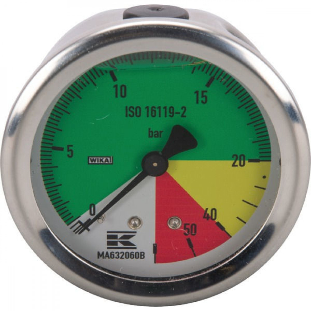 """WIKA Manometer ø63mm 1/4""""achter a. - MA632060B 