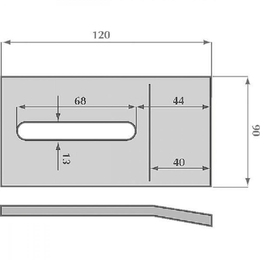 Kverneland / Maletti Afstrijker 90x120mm Maletti - MA8007090 | MA 8007090 | 120 mm