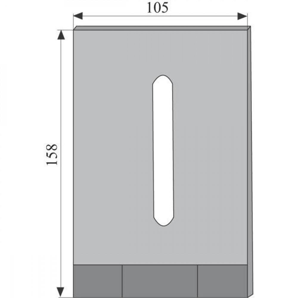 Kverneland Schraper 160x105 Maletti - MA8008090 | MA 8008090 | 160 mm | 105 mm | 13 x 68 mm