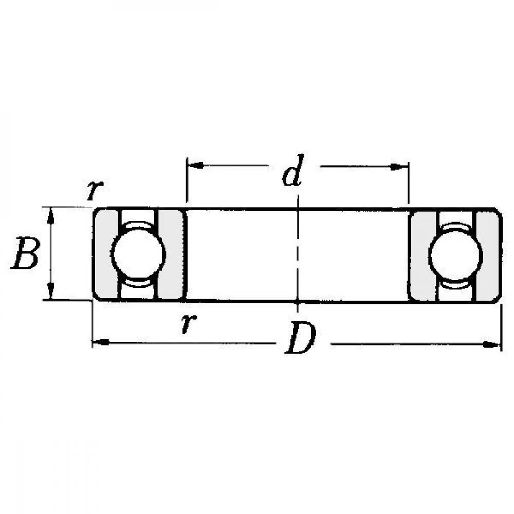 NSK Groefkogellager - NWB00264 | Aant.2 | 81004578