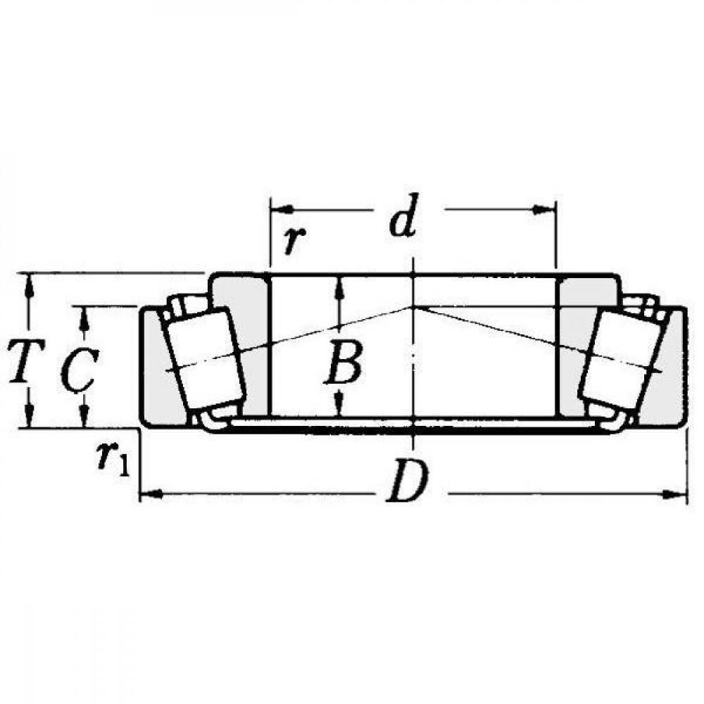 NSK Kegelrollager - NWB00655 | Aant.2 | 81304068