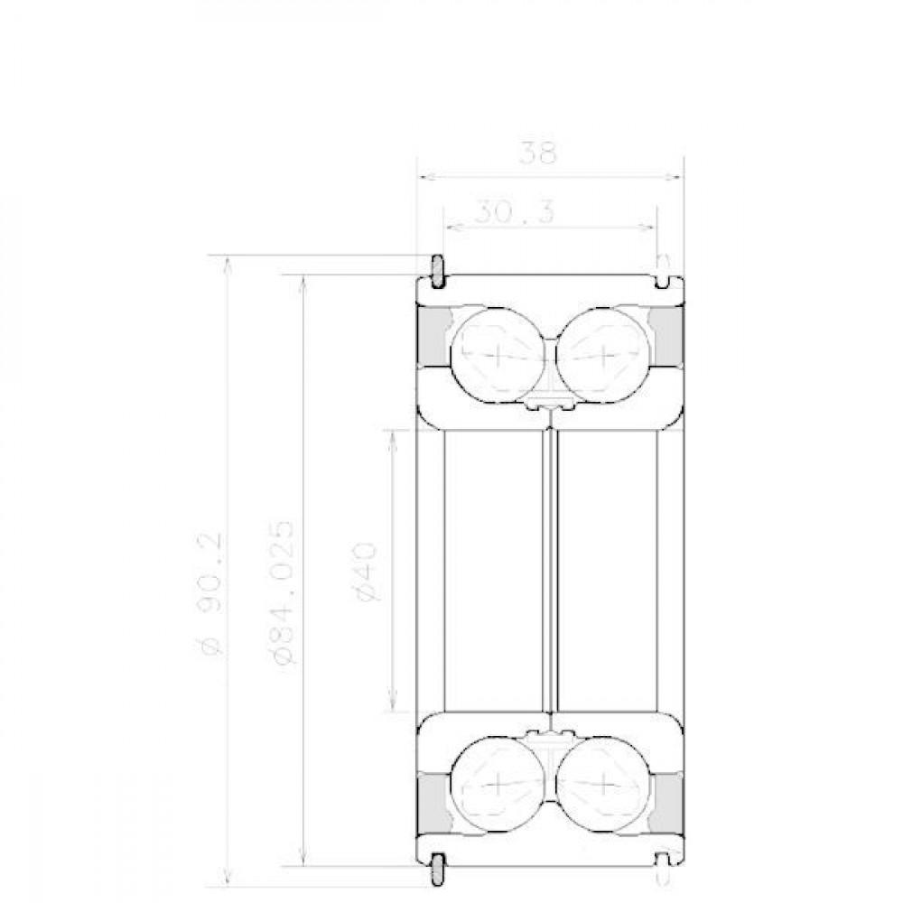 NTN/SNR Hoekcontactlager - NWB01575 | Aant.1 | 81104083 | 84.025 mm | 81104083 | 0,945 kg