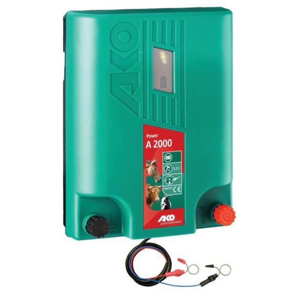 AKO Power A 2000 - 12V afrasteringsapparaat - 372862 | 3 jaar garantie | A 2000 | 11000 V | 4200 V | 3,2 Joule | 2 Joule | 57 km | 12 V | 57-210