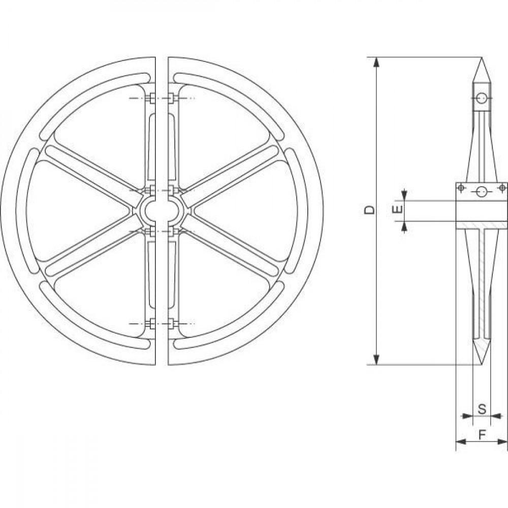 Vorenpacker GGG40 - PR70053 | 700 mm | 150 mm | 30 °